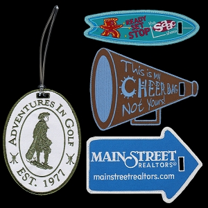 Custom Shape Embroidered Luggage Tags