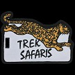 Trek Safaris Custom Shape Embroidered Luggage Tag